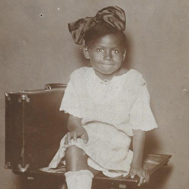 Caption: Olivia Hooker, Age 6 in 1921