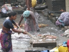 Caption: Laundry day in Dharavi, Credit: Kristin McHugh for the Stanley Foundation