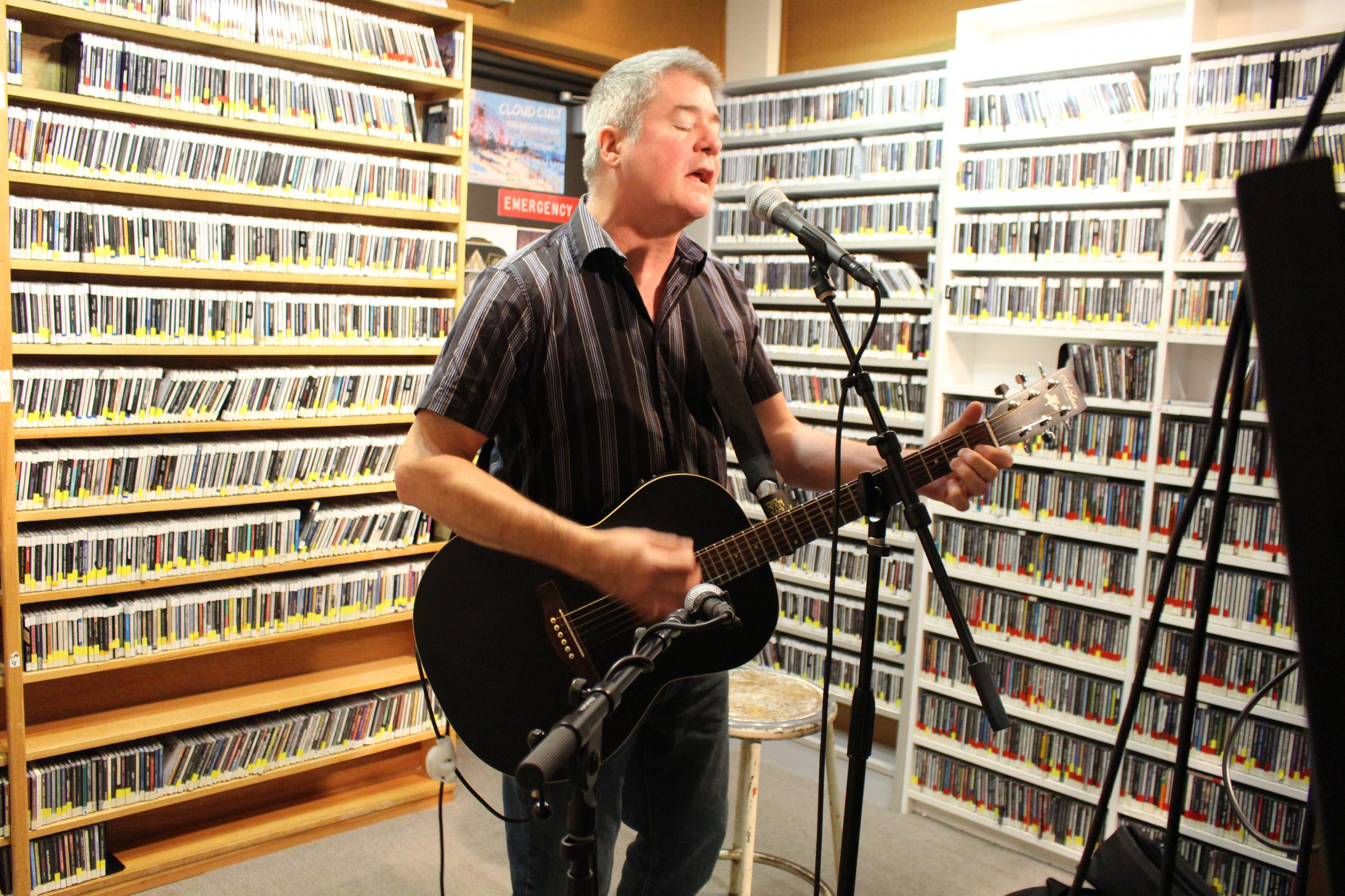 Caption: Randy Casey performing Live from Studio A., Credit: Christine Dean