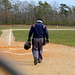 Caption: Keven Joyce, umpiring a JV baseball game in Plymouth, Credit: Otis Gray