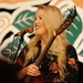 Caption: Ashley Campbell on the WoodSongs Stage.