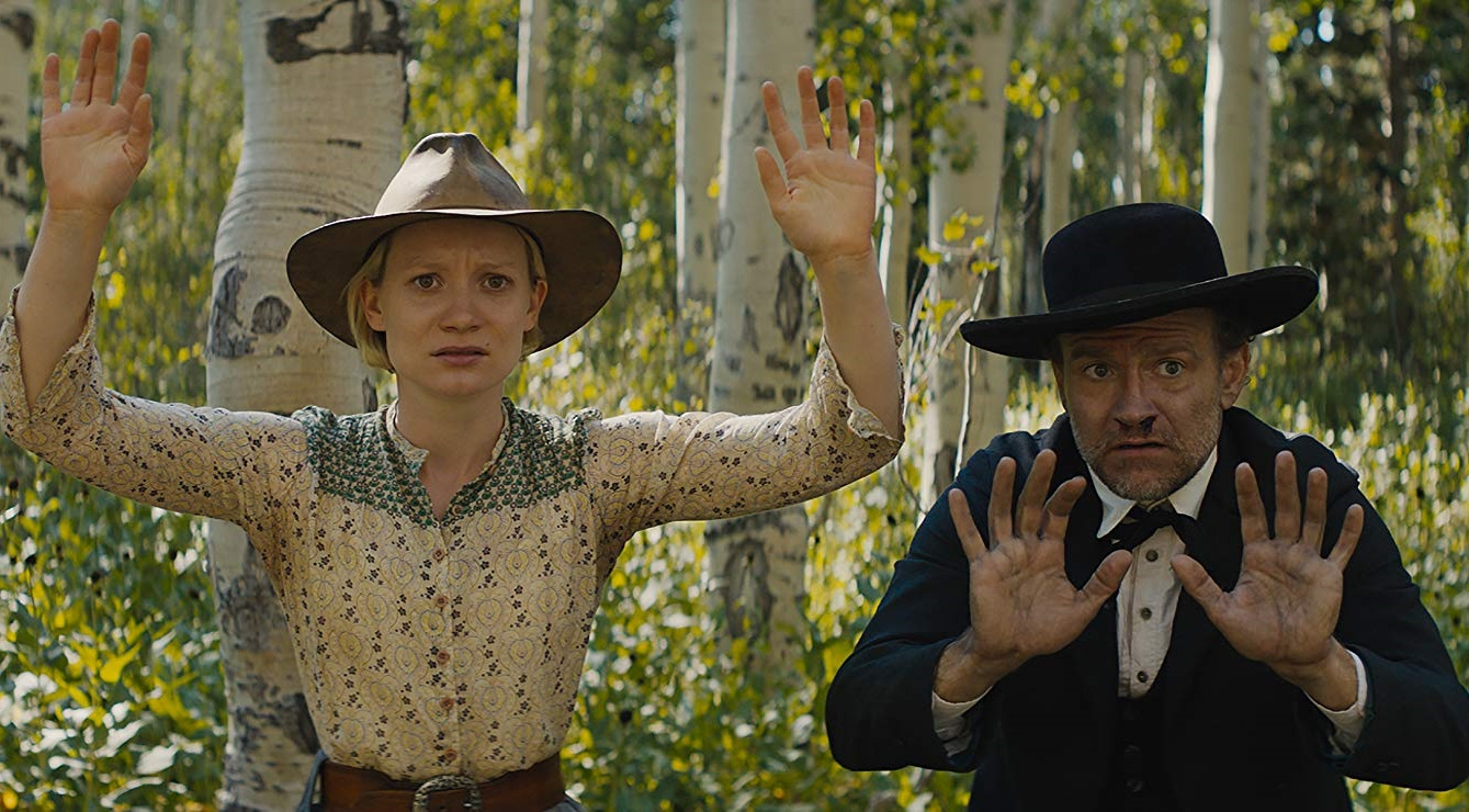 Caption: Mia Wasikowska and David Zellner in 'Damsel'