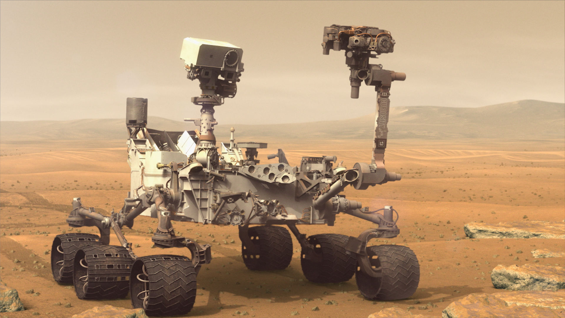 Caption: The Curiosity rover on Mars., Credit: NASA