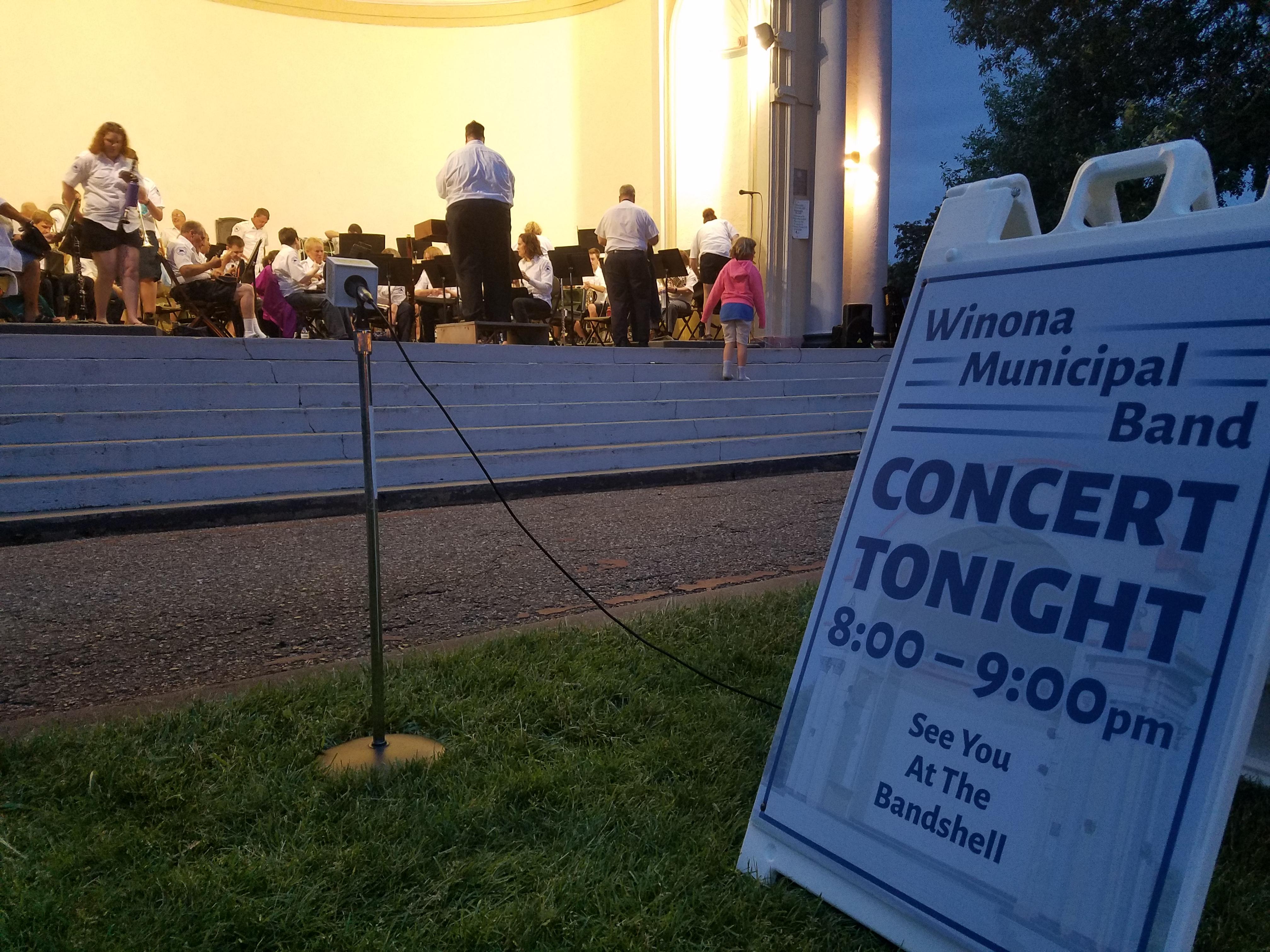 Caption: Winona Municipal Band, Credit: Bill Stoneberg