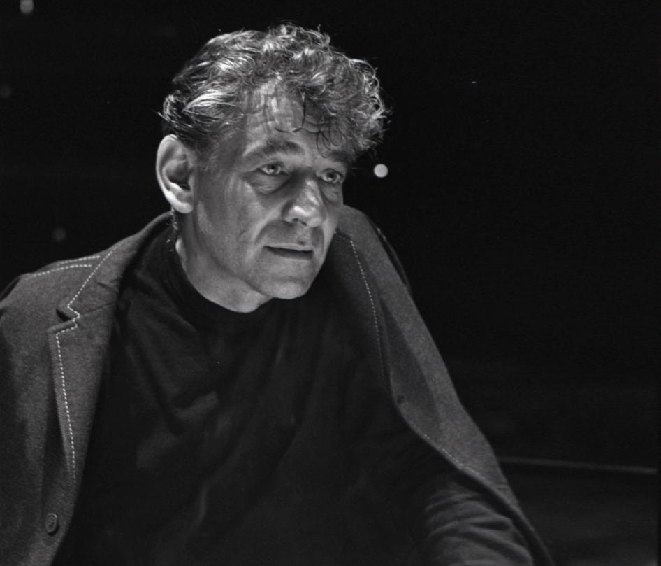 Caption: Leonard Bernstein, Credit: Don Hunstein, Courtesy of Sony Music Archives