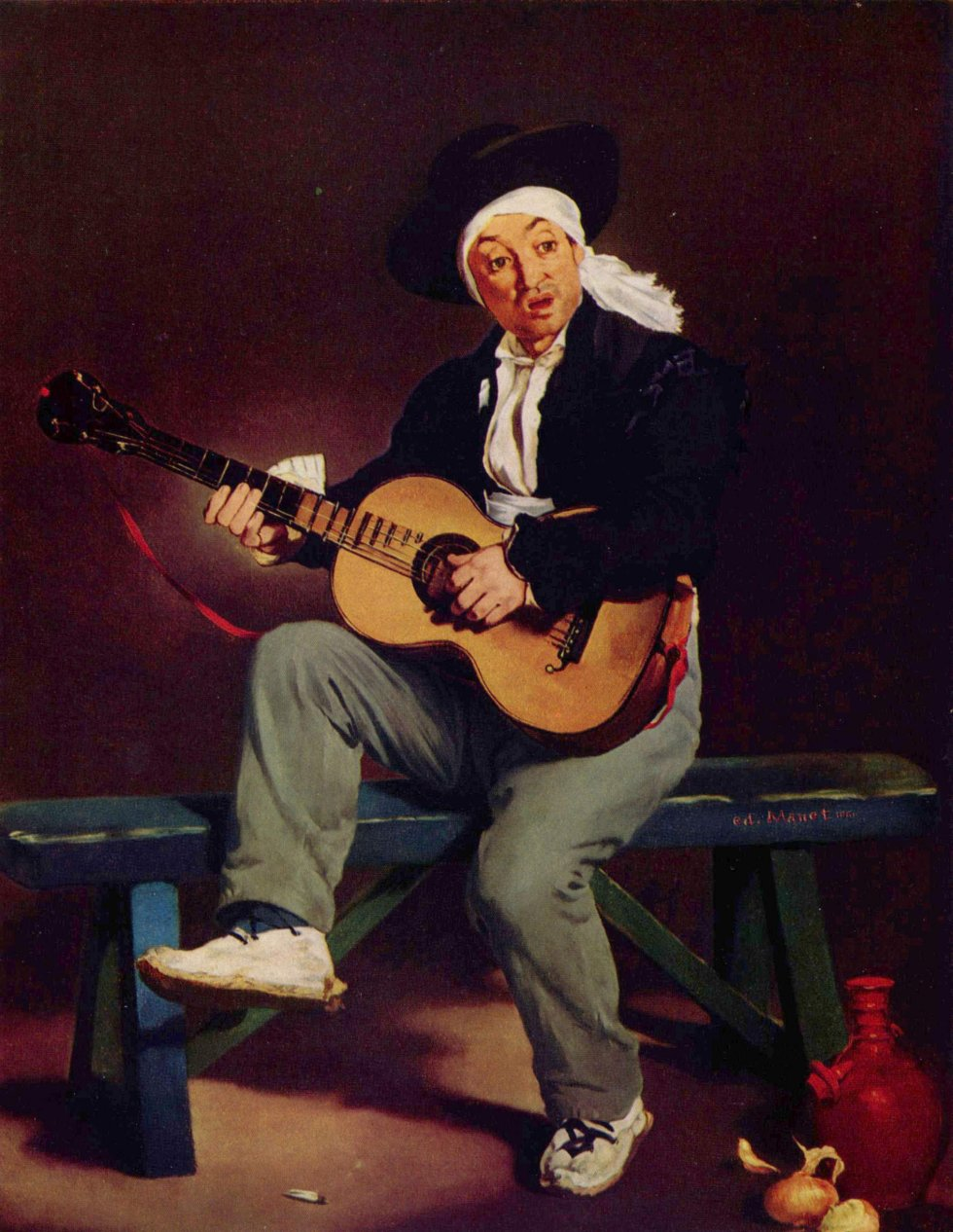 Caption: El guitarrista español (1861), Credit:  Edouard Manet