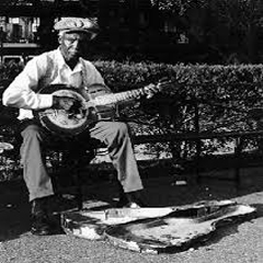 Caption: 1920s street musician