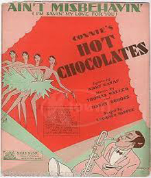 Caption: sheet music for the Hot Chocolates
