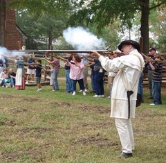 Caption: Farm militia drill, Credit: Jamestown Yorktown Foundation