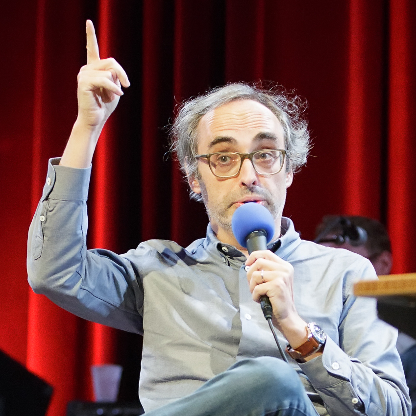 Caption: Gary Shteyngart on Live Wire, Credit: Jennie Baker
