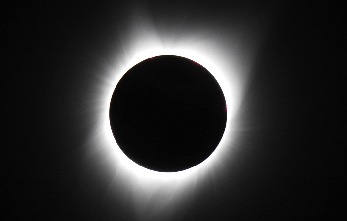 Caption: The 2017 total eclipse on August 21, 2017, Credit: Susanne Bard