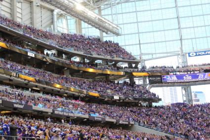 Caption: US Bank Stadium holds up to 70,000 people., Credit: Joe Friedrichs