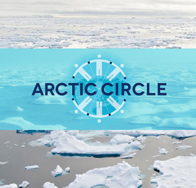 Caption: The Arctic Circle Conference, an annual gathering in Reykjavik, Iceland