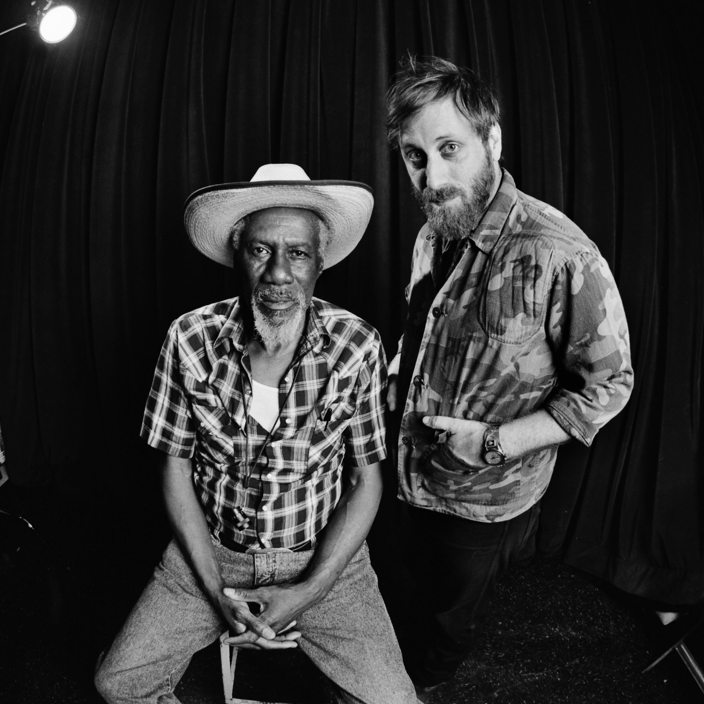 Caption: Robert Finley with Dan Auerbach