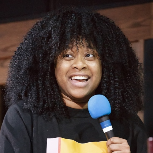Caption: Phoebe Robinson on Live Wire, Credit: Jennie Baker
