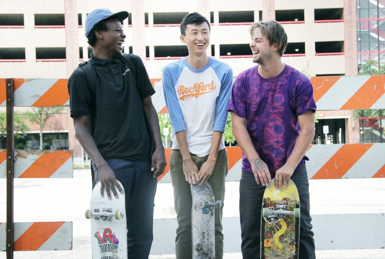 Caption: Kiere Johnson, Bing Liu and Zack Mulligan in the documentary 'Minding the Gap'