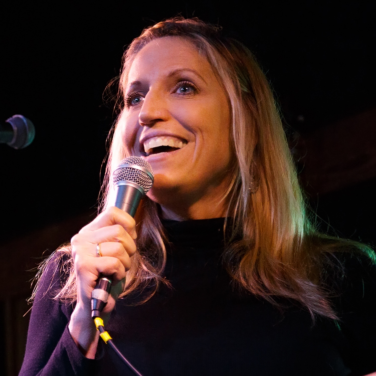 Caption: Laurie Kilmartin on Live Wire, Credit: Jennie Baker