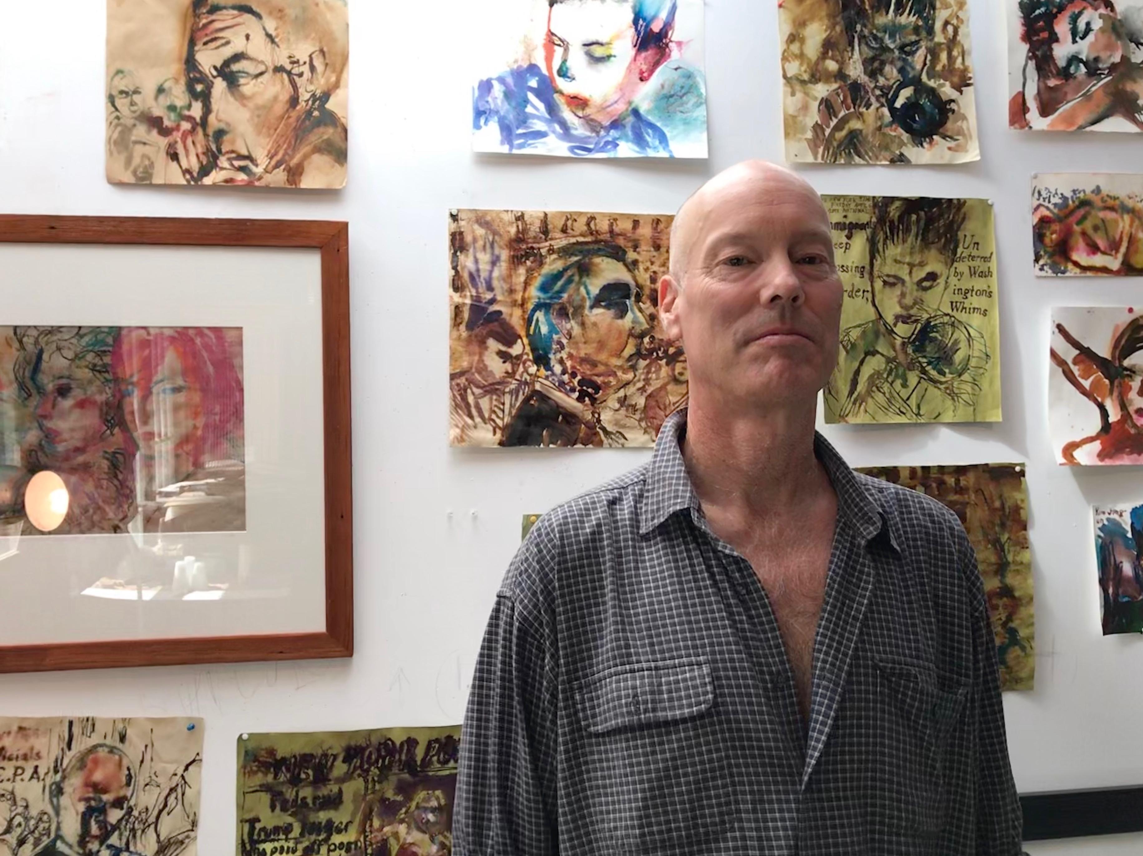 Caption: Richard Limber in his studio