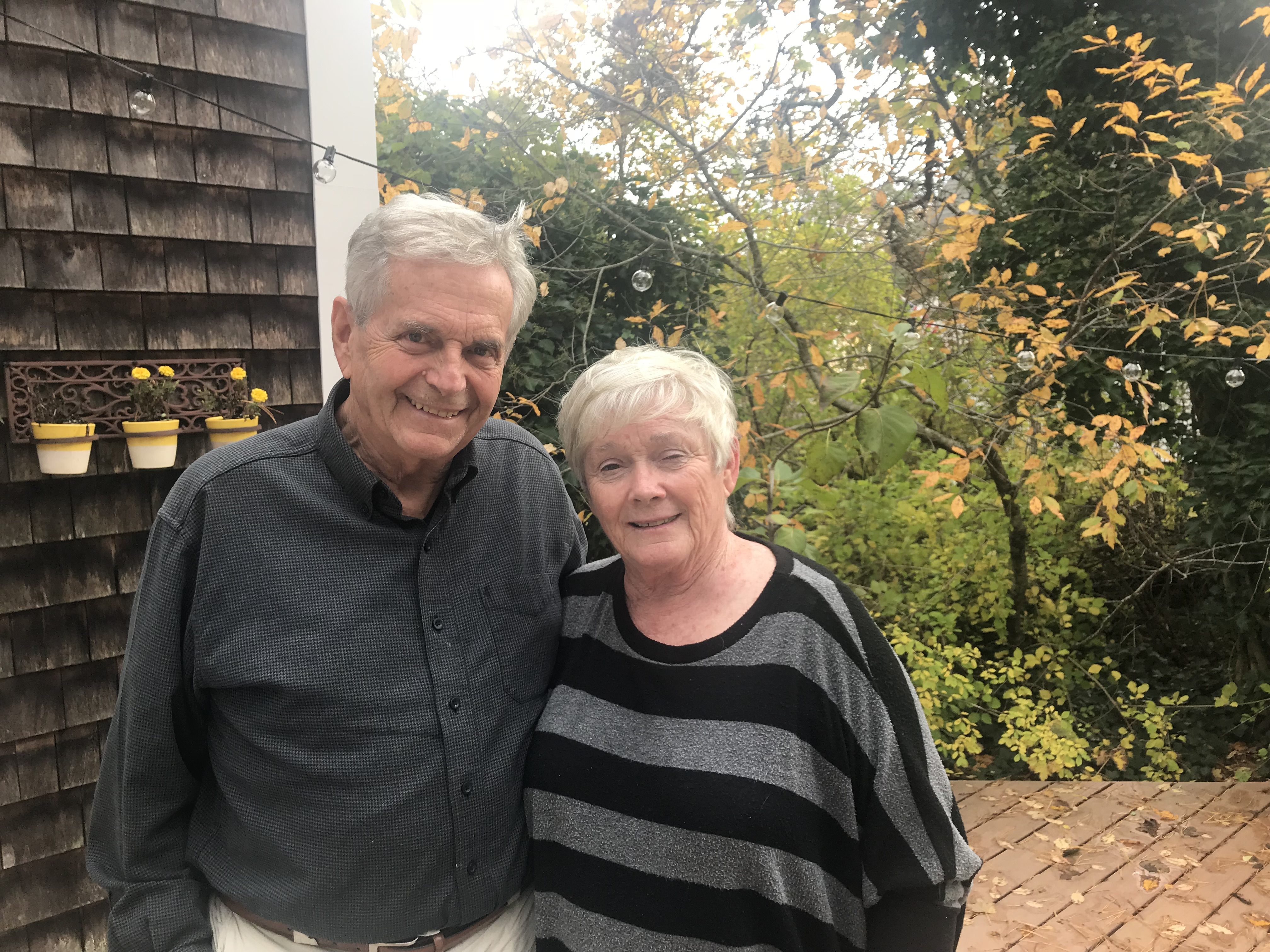 Caption: Mark and Patti McGrath at their home in Harwich. Taken in November 2018, Credit: Brandon Tenney