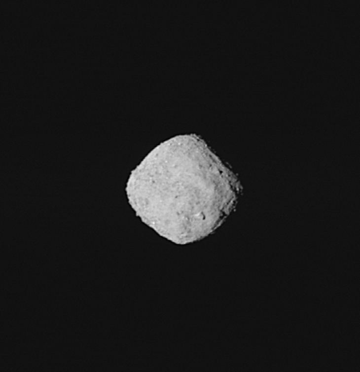 Caption: Bennu comes into focus., Credit: Image credit: NASA/Goddard/University of Arizona.