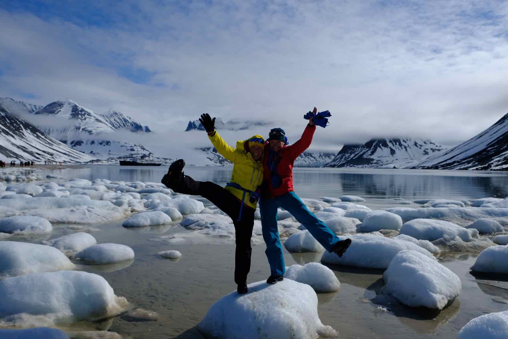 Caption: Citizen Scientists Hilde Fålun Strøm and Sunniva Sorby , Credit: Hearts in the Ice