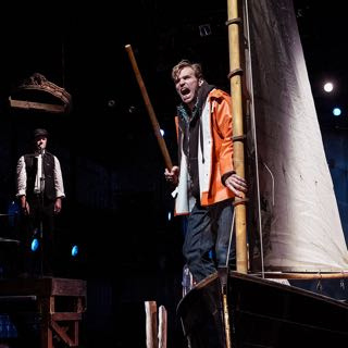 "Caption: Michael Gorman and Alan Barnes Netherton in ""Chasing the New White Whale"", Credit: Carlos Cardona"