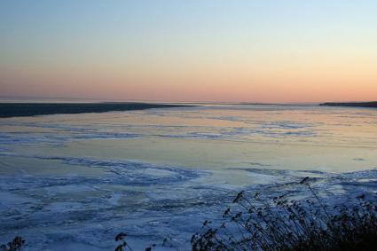 Caption: Ice on Lake Superior