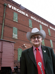 Caption: Jay Ipson in front of the Virginia Holocaust Museum., Credit: John K. MacLellan