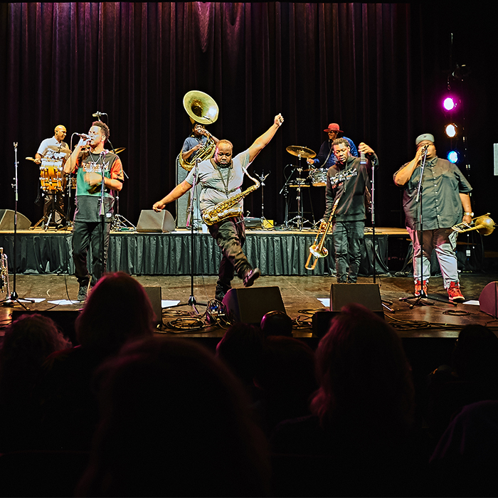 Caption: Soul Rebels Brass Band