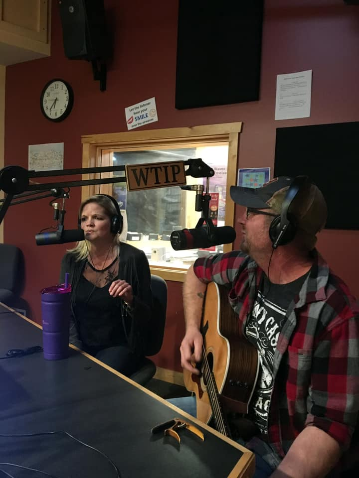 Caption: Tony Haedt and Cindy Sue of Dram Shop Country in Studio A