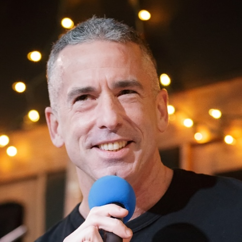 Caption: Dan Savage on Live Wire, Credit: Jennie Baker