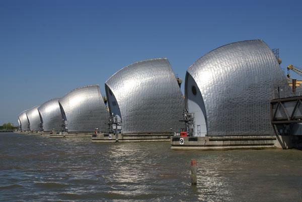 Caption: Thames Barrier, U.K.
