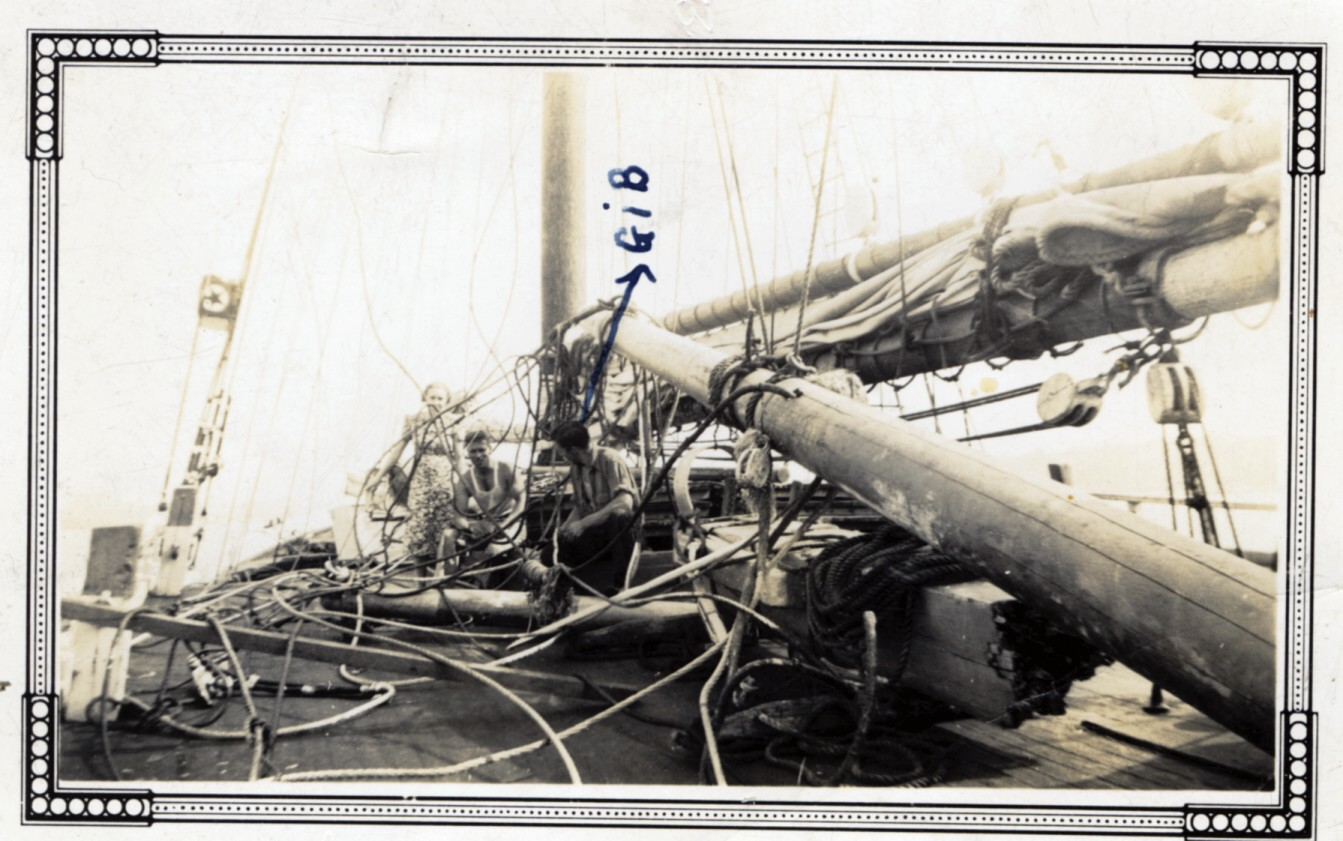Caption: The Wrech of the Rebecca Douglass, the last Coaster to Sail Downeast, Credit: Susan Cook
