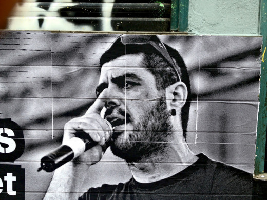 Caption: Pavlos Fyssas, Greek anti-fascist rapper who was killed in 2013 by self-professed member of the Golden Dawn Party