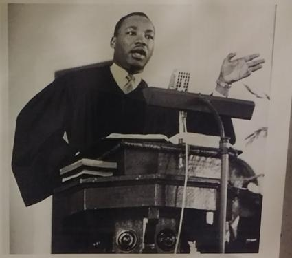 Caption: Dr. Martin Luther King addressing the Unitarian Universalist Association in Hollywood, Florida in May 1966