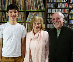 Caption: OutCasting youth participant Alex with Mimi and Jerry Goodman, Credit: Jim MacLean