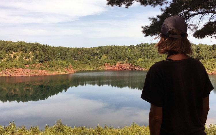 Caption: Sara Pajunen on the Minnesota Iron Range, Credit: Sara Pajunen