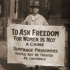 Caption: Suffragette