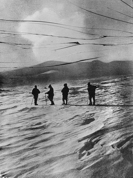 Caption: Ernest Shakelton British Antarctic Expedition, 1907–09, Credit: Public Domain Review