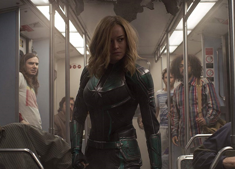 Caption: Brie Larson in 'Captain Marvel'