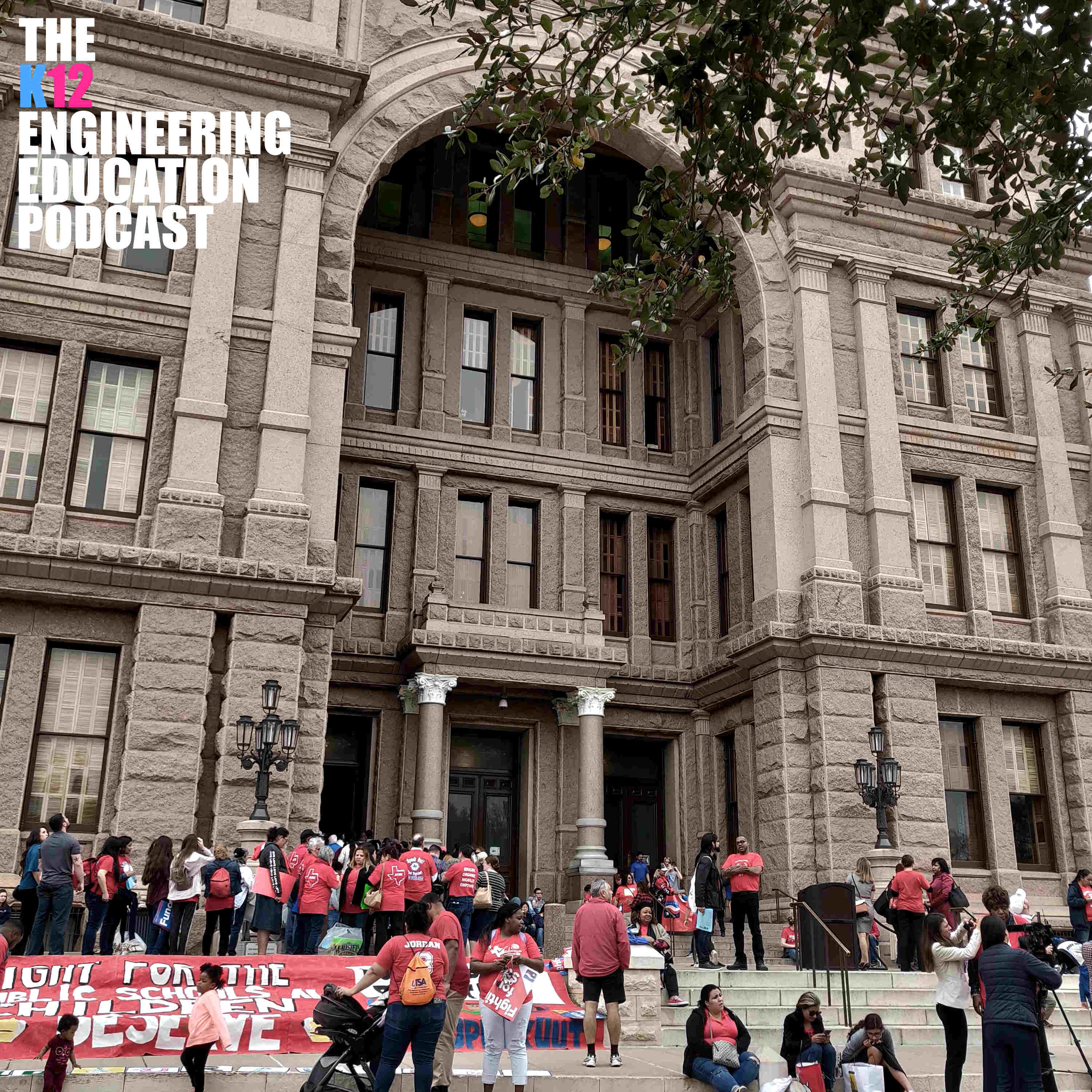 Caption: Photo of the Texas Capital building on March 11, 2019, during a rally for education finance reform., Credit: Pius Wong