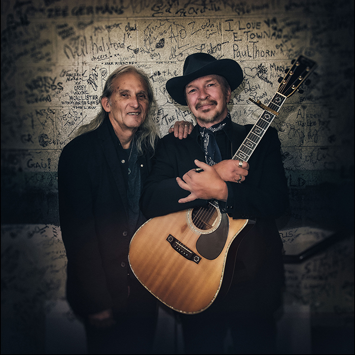 Caption: Dave Alvin and Jimmie Dale Gilmore