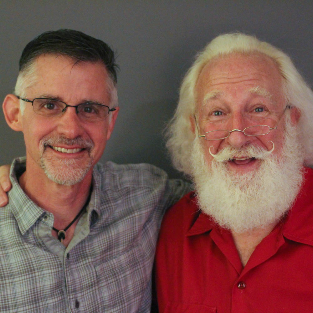 Caption: Adam Roseman and Rick Rosenthal pose after their StoryCorps interview in Atlanta, GA in September 2018. , Credit: By Brenda Ford for StoryCorps.