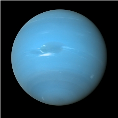 Caption: Neptune, as seen during the brief Voyager 2 flyby in 1989, Credit: NASA/JPL