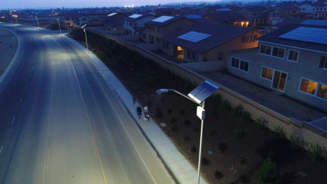 Caption: Beaumont solar street lights