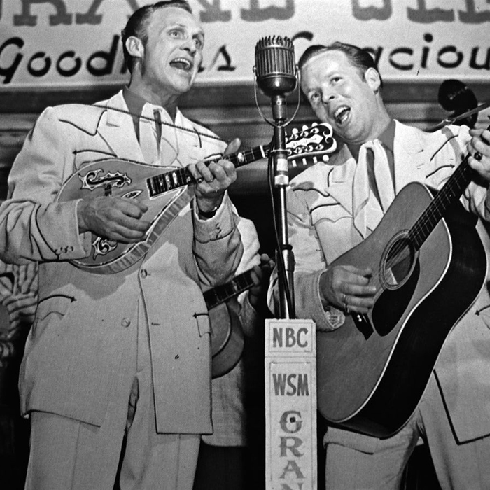 Caption: Charlie Louvin with brother Ira