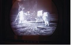 Caption: Apollo 11 on a 1969 Small-Screen TV