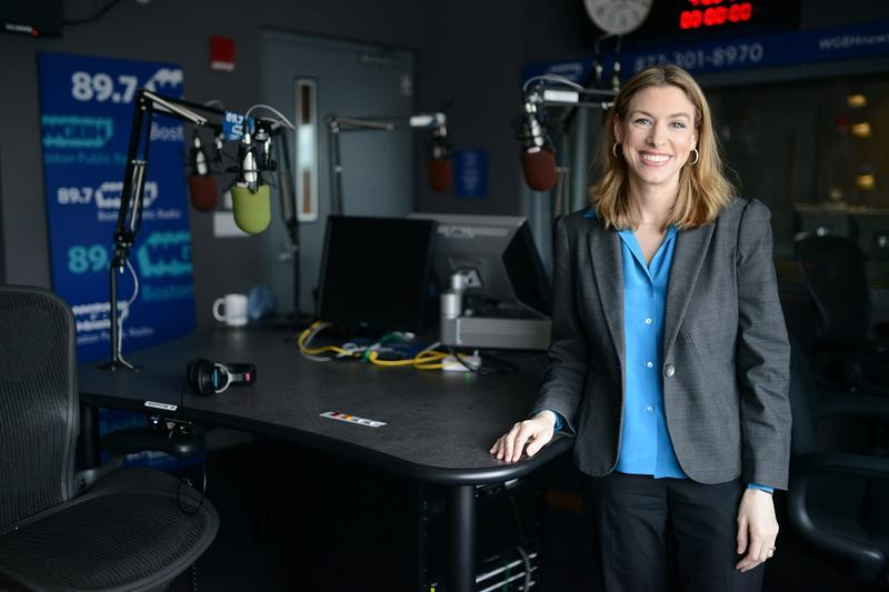 Caption: Kara Miller from Innovation Hub on WGBH, Credit: MEREDITH NIERMAN / WGBH NEWS