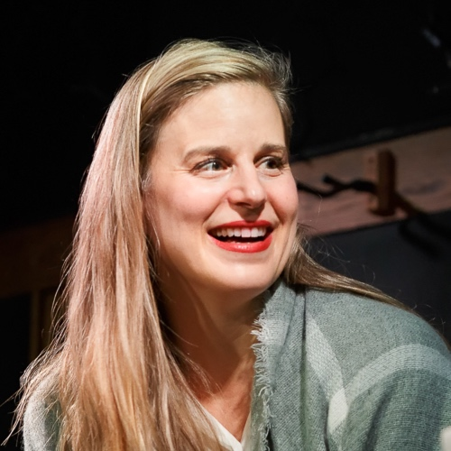 Caption: Lauren Groff on Live Wire, Credit: Jennie Baker