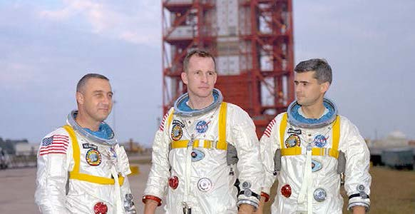 Caption: The crew of Apollo 1, Credit: NASA photo